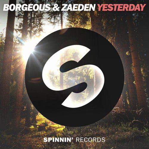 MIDI of Borgeous, Zaeden - Yesterday